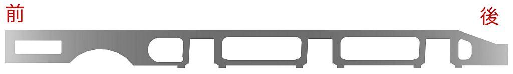 蒸気機関車の主台枠(フレーム)