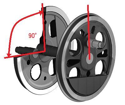 蒸気機関車の動輪の位相
