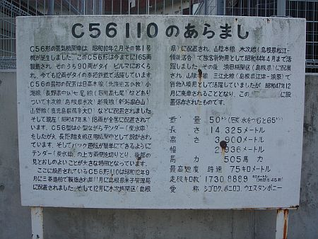 C56110機関車案内板