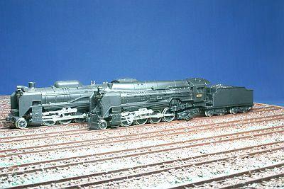 KATO D51形機関車とマイクロエース D51 22