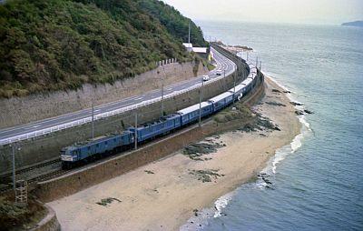 EF58形機関車牽引 寝台特急安芸