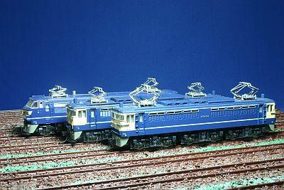 EF66形、EF65(500番台)形、EF65(1000番台)形機関車