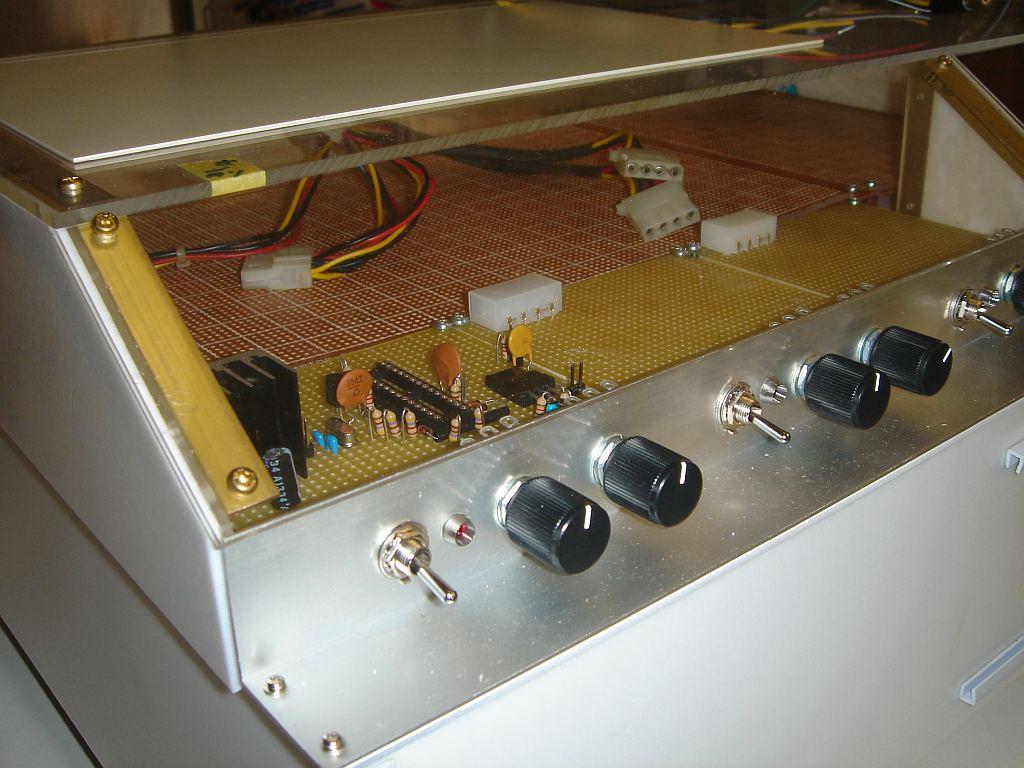 Nゲージレイアウト用制御盤 天板部