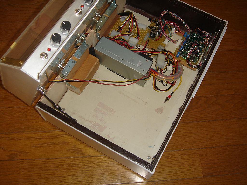 Nゲージレイアウト用制御盤 内部