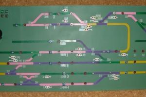 進路制御盤のパネル